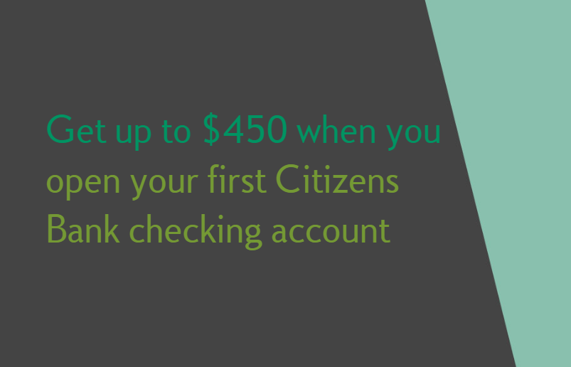 Expired] Citizens Bank Bonus, Get $450 with New Checking