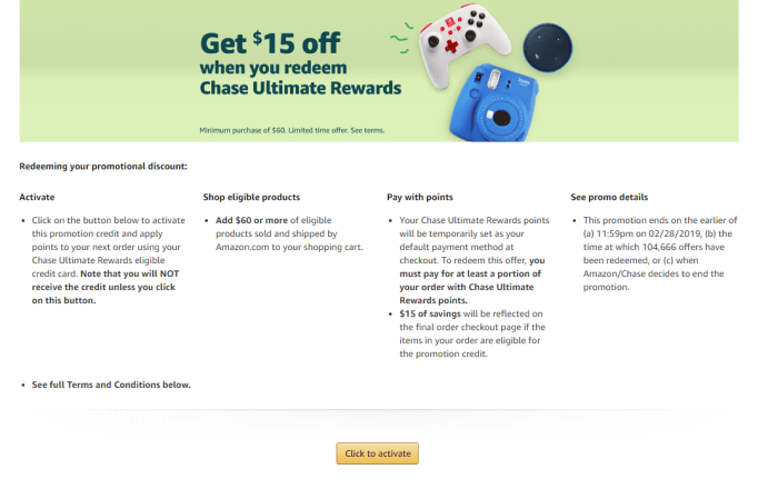 amazon chase points discount