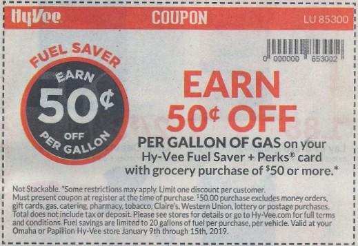 hy-vee gas savings