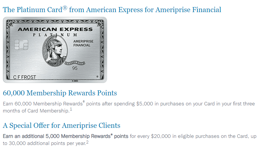 Ameriprise Amex Platinum No Longer Fee-Free, Adds 60K Bonus - Danny