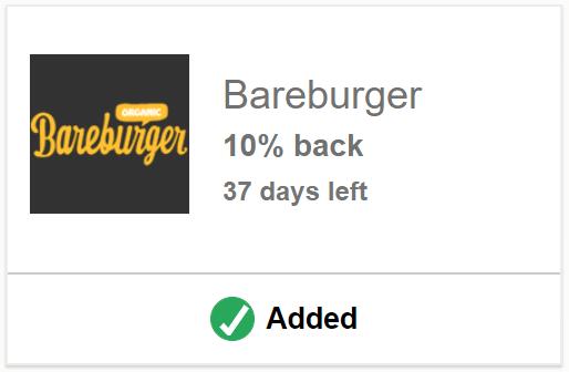 Bareburger Chase Offer