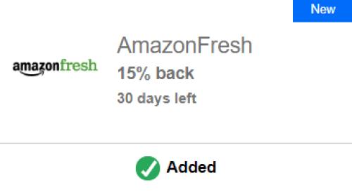 AmazonFresh Chase Offer