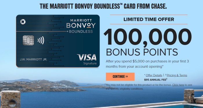 Chase Marriott Boundless Card 100k bonus