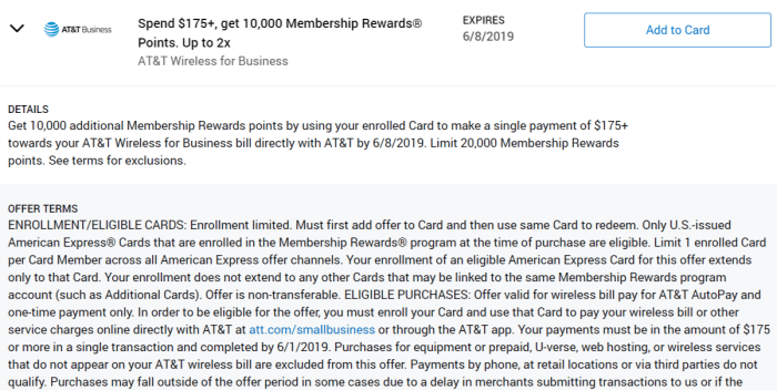 AT&T Business Amex Offer