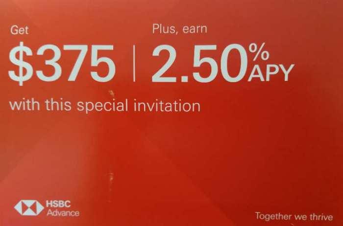 HSBC Bank bonus