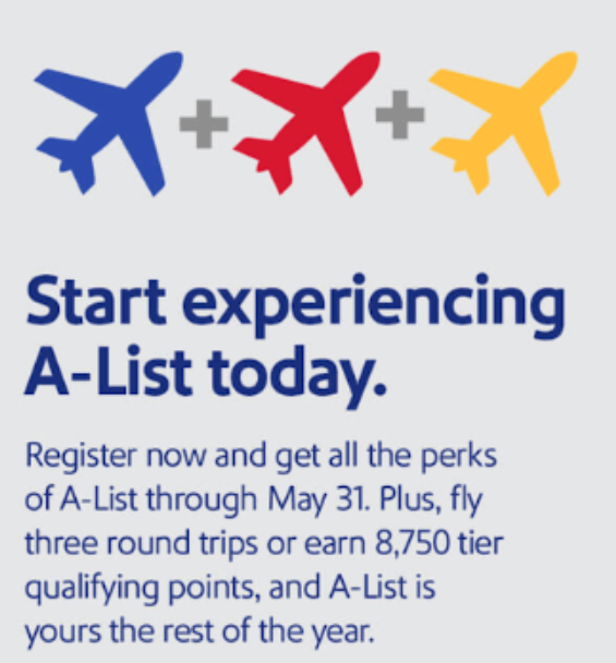 Southwest A-List challenge