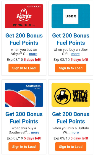 Kroger, Earn 200 Fuel Points with Purchase of Select Gift