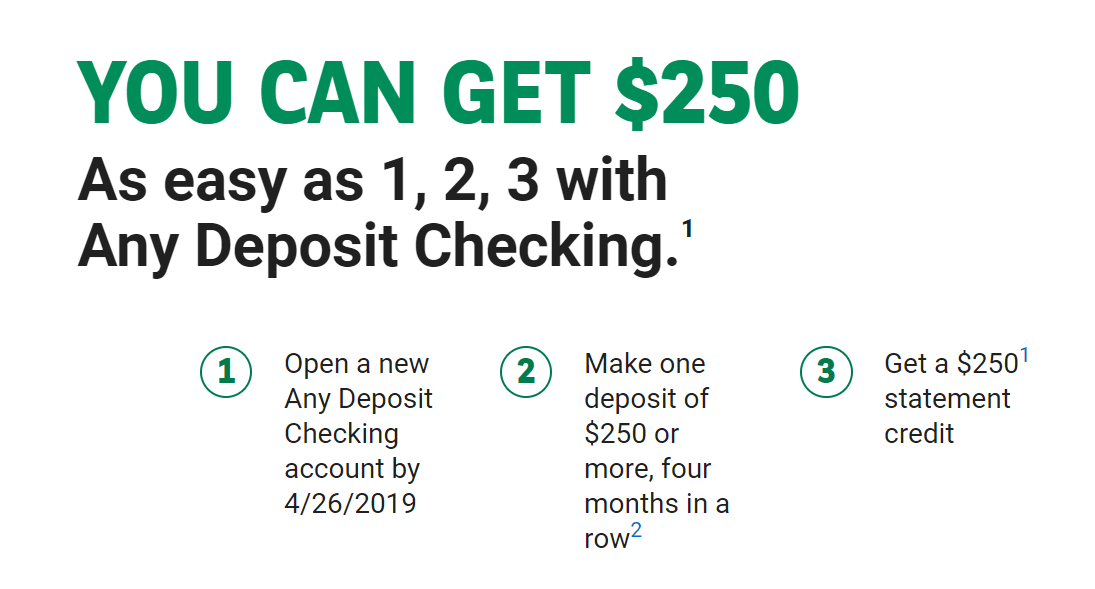 Bank Of The West, $250 Checking Account Bonus with Direct Deposit (Select States)