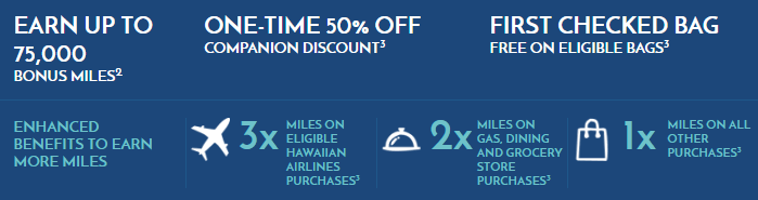 Hawaiian Airlines MasterCard 75k bonus