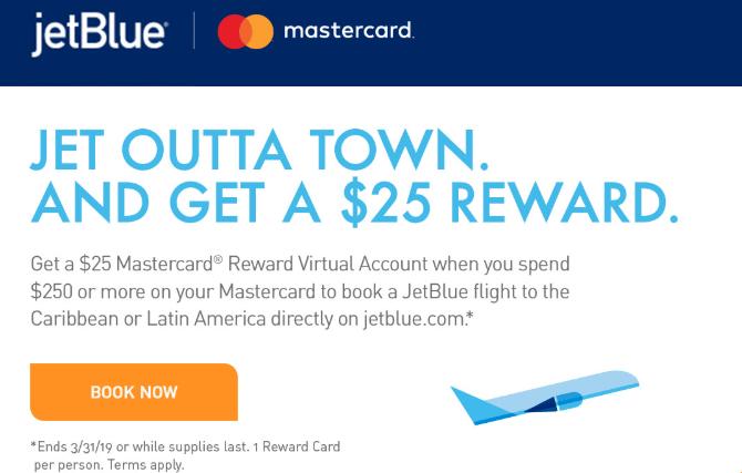 jetblue mastercard promo