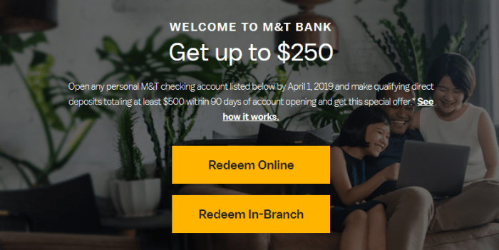 M&T Bank Bonus,