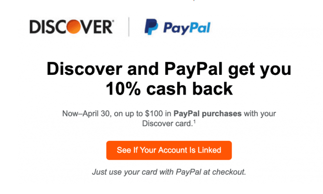discover paypal 10% offer