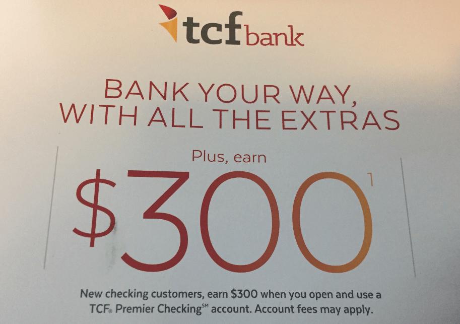 TCF Bank, $300 Checking Account Bonus (Targeted, Select