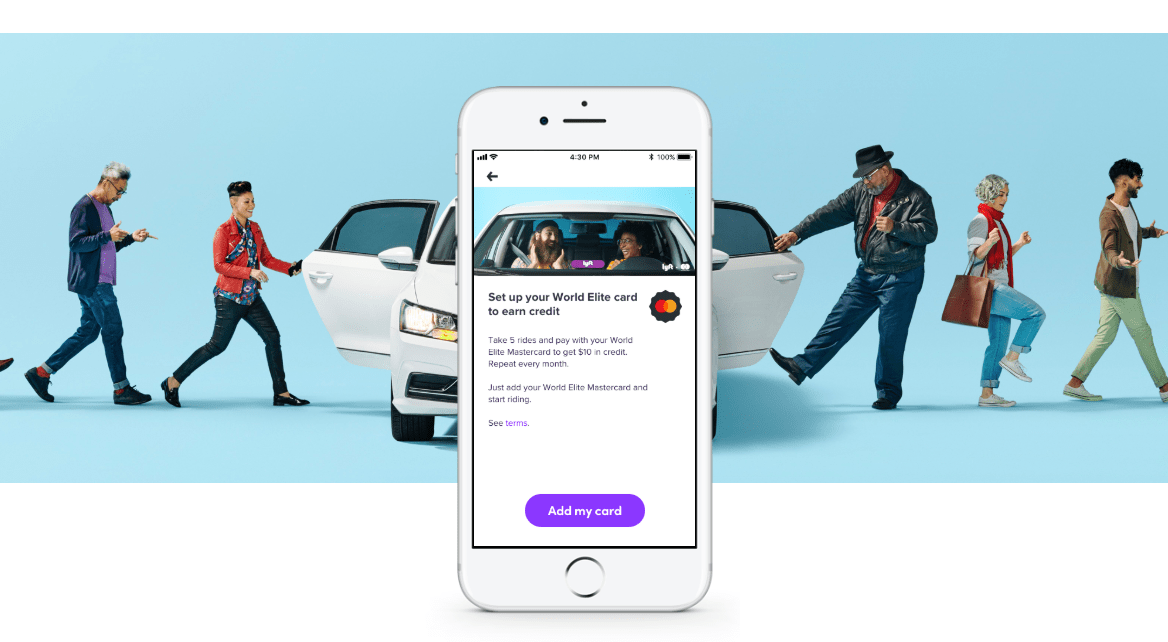 Lyft, $10 Monthly Credit with World Elite Mastercard