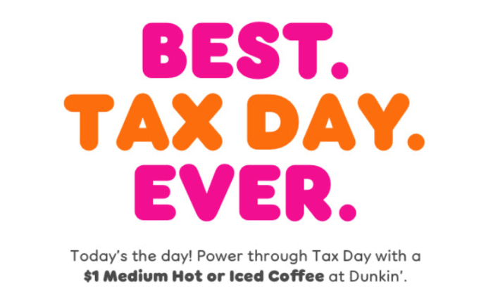 $1 Coffee at Dunkin Today