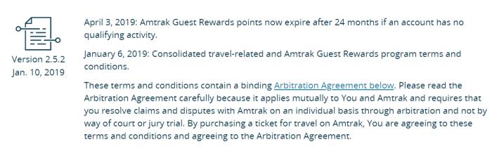 amtrak points expiration