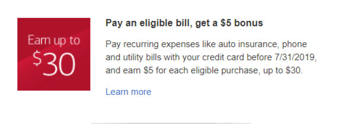 bank of america pay bill bonus