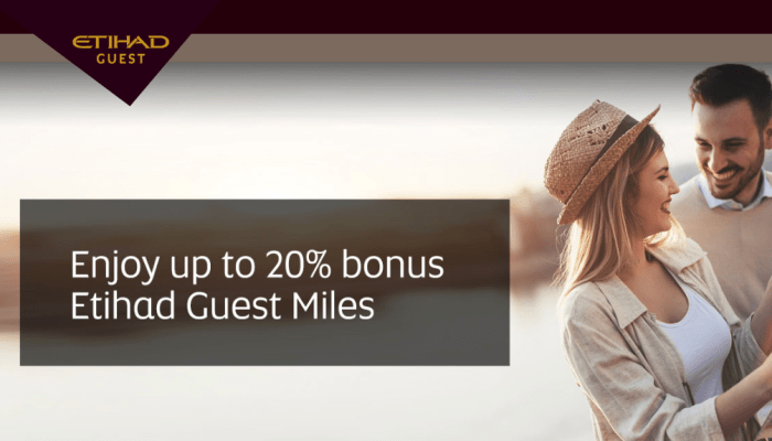20% bonus Etihad Guest Miles