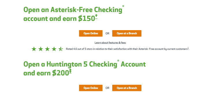 Huntington Bank Bonus