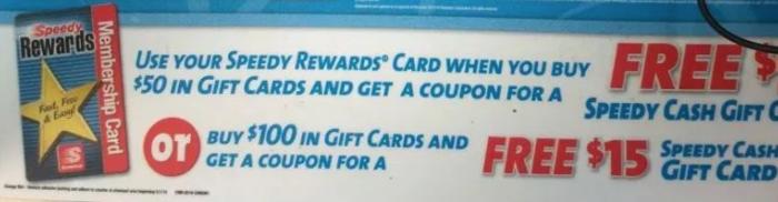 speedway gift card deal