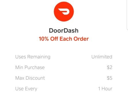 cash app debit doordash