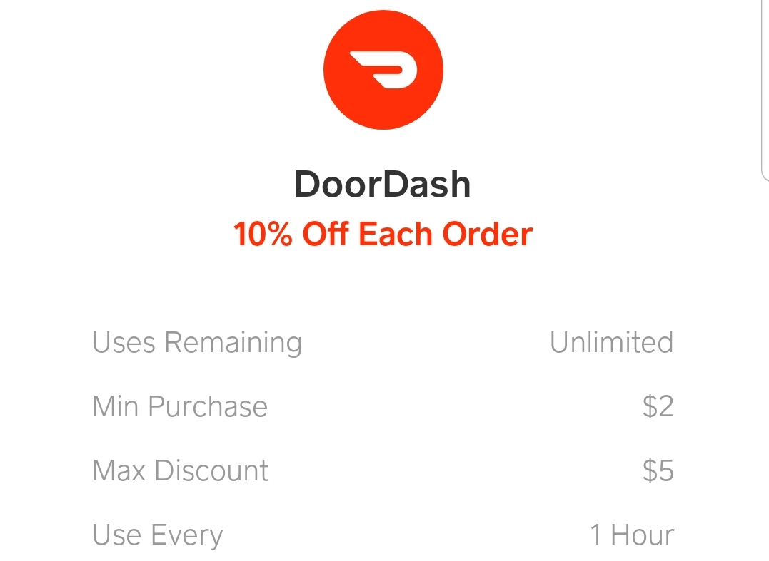 Cash App Debit Card, 10% on Each DoorDash Order - Danny the Deal Guru