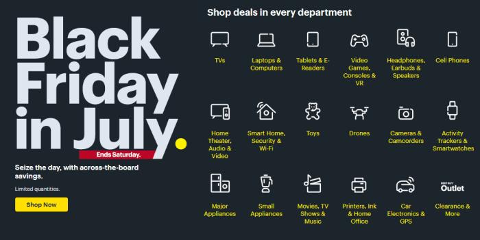 Best Buy Black Friday in July