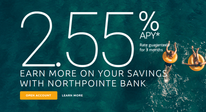 Northpointe Bank 2.55%