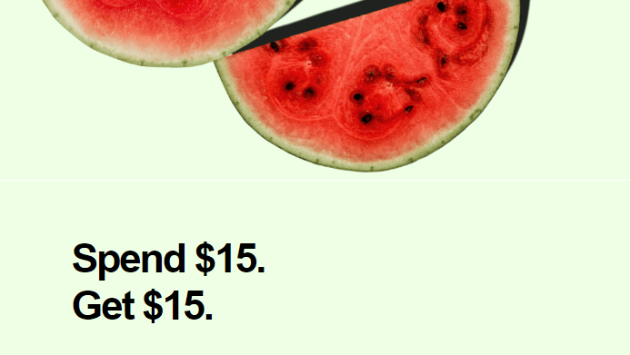 Postmates - Spend $15 Now, Get $15 Credit for Next Month