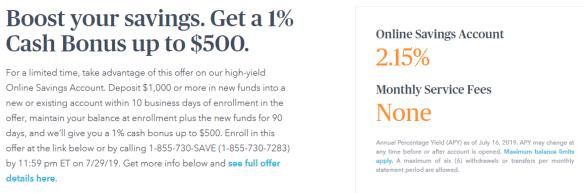 marcus $500 bonus