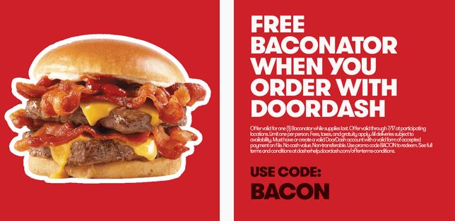 Free Baconator from Wendy's with DoorDash - Danny the Deal Guru