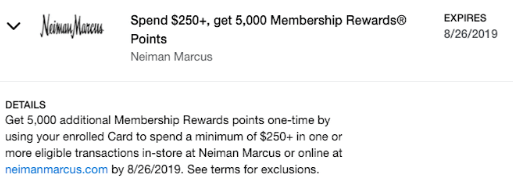 Neiman Marcus Amex Offer