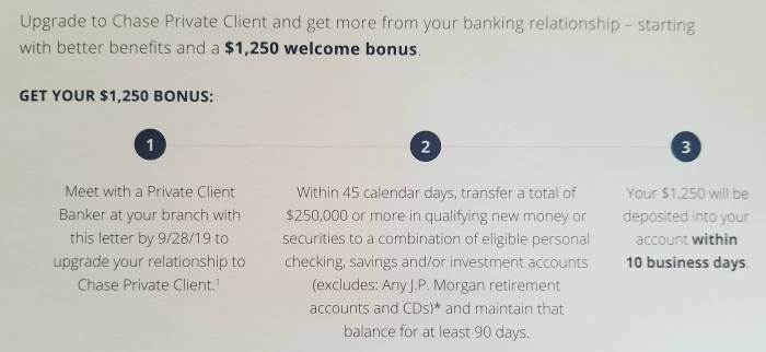 chase private client bonus