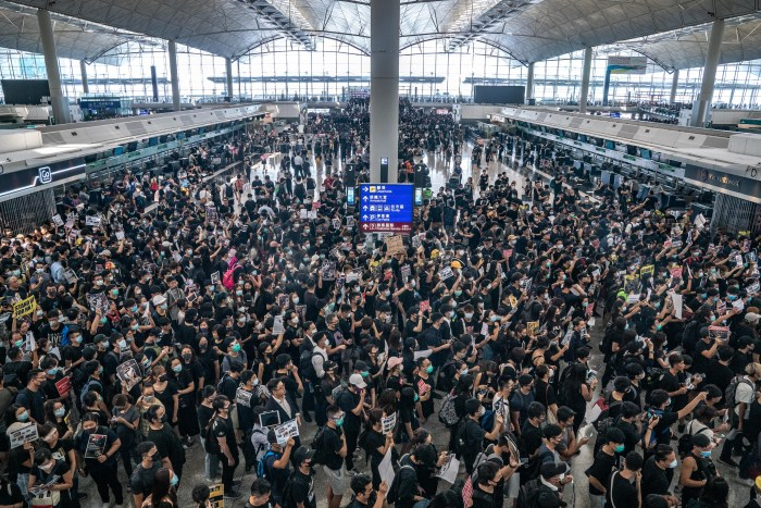 Protesters Shut Down Hong Kong Airport