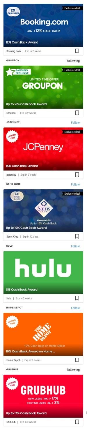 samsung pay cashback