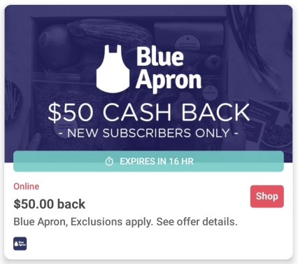 blue apron ibotta