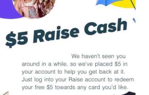 $5 Raise Cash