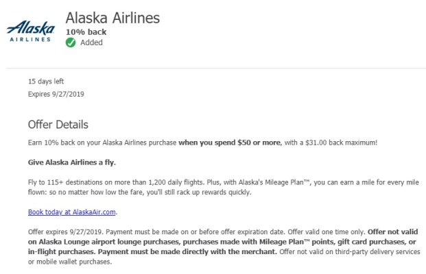 Alaska Airlines Chase Offer