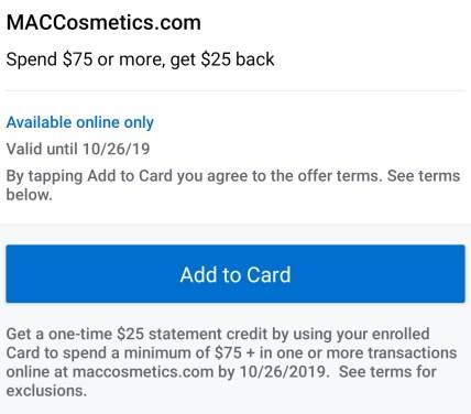 MAC Amex Offer