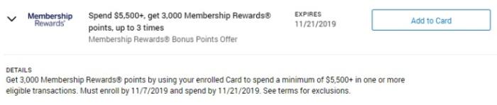 membership rewards amex offer