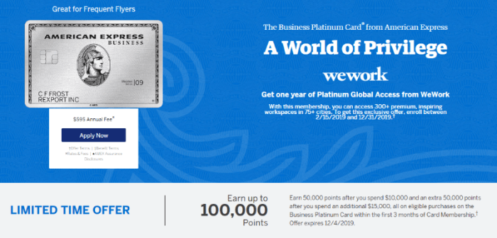 Amex Business Platinum 100k Offer Is Now Available For