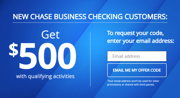 Chase Total Business Checking $500 bonus