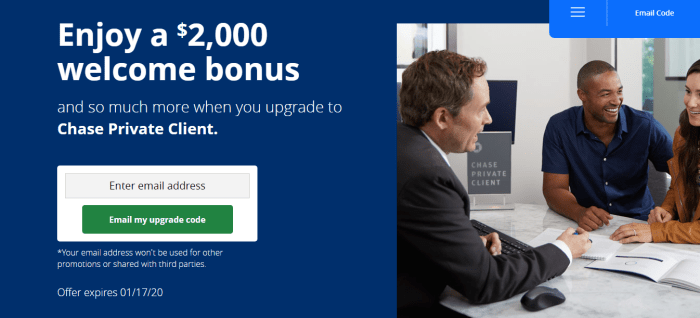 Chase Private Client $2K bonus