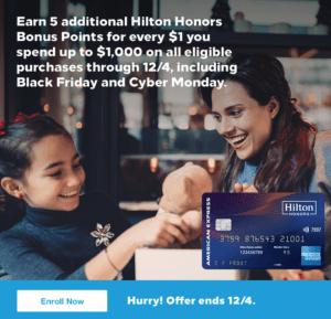 amex hilton 5x offer