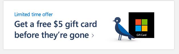 Free $5 Microsoft eGift Code