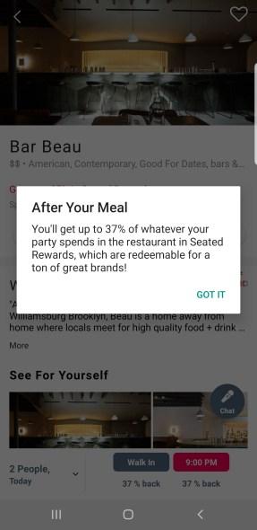 restaurant savings