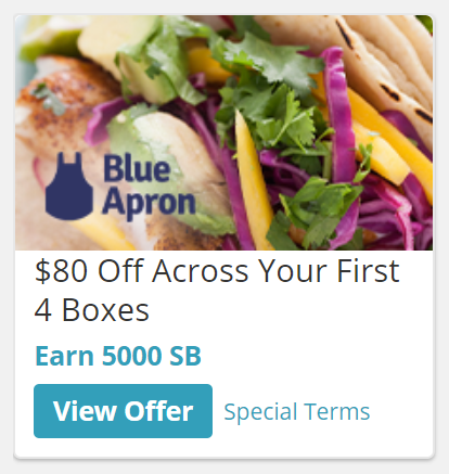 swagbucks blue apron