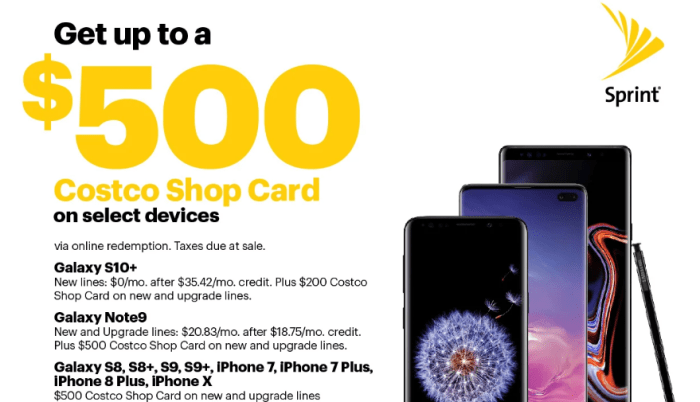 Costco Offers for Select Samsung and iPhone