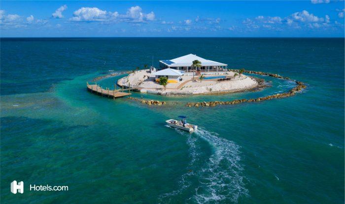 Hotels.com private island