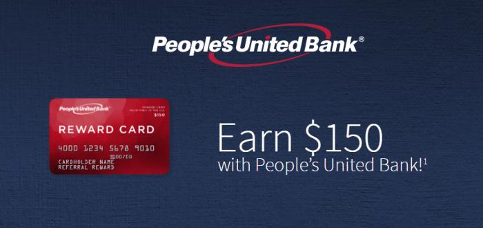 People's United Bank business bonus